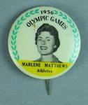 Lapel pin, 1956 Australian Olympic Games team - Marlene Matthews