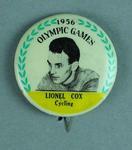 Lapel pin, 1956 Australian Olympic Games team - Lionel Cox