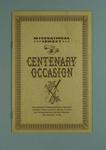 Booklet, International Cricket Centenary Occasion 1962