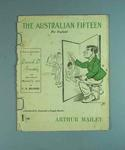 """Booklet, """"The Australian Fifteen for England"""" - cartoons by A A Mailey, 1921"""
