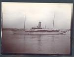 Photograph from Frank Laver's photograph album, view of passenger ship circa 1910