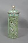 Glass jar, handpainted cricket design