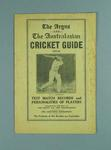 """Booklet, """"The Argus and The Australian Cricket Guide 1932-33"""""""
