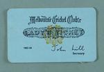 Melbourne Cricket Club Lady's Ticket, season 1983/84