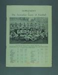 "Booklet, ""Supplement to The Australian Game of Football"" c1931-32"