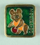 Badge, 1980 Olympic Games - Mishka the Bear (Basketball)