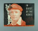 """Booklet, """"In Quest of the Ashes 1934"""""""