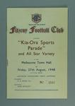 "Fitzroy Football Club ""Kia-Ora Sports Parade"" Programme, 1948"