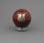 Cricket ball presented to Sydney F. Barnes by Melbourne Cricket Club 1901