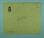 Envelope  which contained  Gwenyth Strasser's Certificate of Appreciation 1956 OG