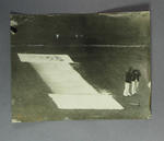 Photograph of covered cricket pitch, c1920s-30s