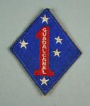 Cloth badge issued to US Marines based at Guadalcanal during WWII