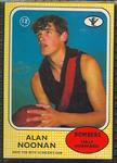 1972 Scanlen's Gum Australian Football, Alan Noonan trade card