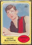 1970 Scanlen's Gum Australian Football, Geoff Blethyn trade card
