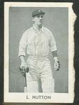 1947 Radio Fun Famous Test Cricketers L Hutton trade card