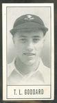 1957 Barratt & Co Ltd Test Cricketers Series B Trevor Goddard trade card
