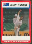 1990 Stimorol Cricket Stumpers Competition Merv Hughes trade card
