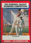 1990 Stimorol Cricket Stumpers Competition Robert Holland trade card