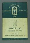 Programme -  Wrestling - 1956 Melbourne Olympic Games