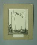 Photograph of Max Kroger pole vaulting, Victorian Record 1927
