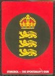 1990 Stimorol Cricket Stumpers Competition England emblem trade card