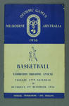 Programme -  Basketball - 1956 Melbourne Olympic Games