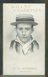 1911 W D & H O Wills Australian and English Cricketers R H Spooner trade card