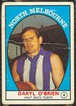 1968 Scanlen's Gum Australian Football - Series A, Daryl O'Brien trade card