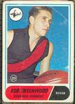 1969 Scanlen's Gum Australian Football, Bob Greenwood trade card