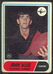 1969 Scanlen's Gum Australian Football, John Ellis trade card