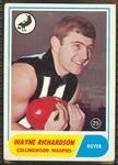 1969 Scanlen's Gum Australian Football, Wayne Richardson trade card
