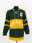 Australian ice hockey jersey, worn by Ben Acton at 1960 Winter Olympic Games