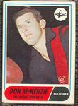1969 Scanlen's Gum Australian Football, Don McKenzie trade card