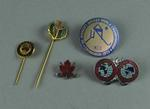 Hockey related badges and pins, c1936-75
