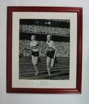 Reproduction photograph - Betty Cuthbert 4 x 100mtr Relay 1956 Olympic Games