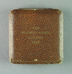 Case for bronze medal won by Shirley Strickland in 80m hurdles, 1948 Olympic Games