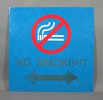No Smoking sign, previously displayed in Melbourne Cricket Club Members' Pavilion