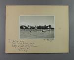 Photograph of women's athletics event finish line, Perth - 29 January 1949