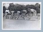 Photograph depicting the start of a women's running race, 29 Jan 1949