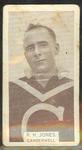1933 Wills Australian Football R H Jones trade card