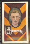 1933 Allen's Australian Football Albert Mills trade card