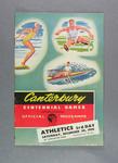 Programme for Canterbury Centennial Games athletics events, 30 Dec 1950