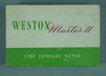 Box for Weston light meter, c1950s