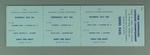 Set of  Australian Lacrosse Championship tickets for 6, 10 & 13 July 1968 - Adult & Child