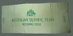 Towel manufactured for Australian Olympic Team, Helsinki 1952