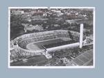 Postcard of Helsinki Olympic Stadium, mailed to Shirley Strickland in 1955