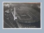 Postcard, aerial view of 1952 Helsinki Olympic Games Opening Ceremony