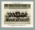 Black and white photograph -  Malvern Lacrosse Club, Premiers 'C' Grade 1964