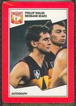 1989 Stimorol The Sportsman's Gum [Scanlens Sweets Pty. Ltd.] V.F.L. - Phillip Walsh Trade Card No. 144