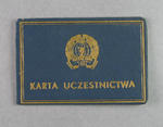 Identity card issued to Shirley Strickland, International Friendly Sports Meeting of Youth 1955